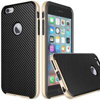 iVAPO iPhone 6s Plus Premium PU Leather Cell Phone Case, Carbon Fiber Black   s