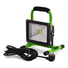 Scheinwerfer Lichtfluter LED 20W 240V 1600Lu. Arbeitlampe Gartenleuchte tragbar