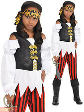 Girls Pirate Costume Childs Pretty Scoundrel Fancy Dress Kids Book Week Outfit