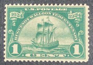 "TRAVELSTAMPS: 1924 US Stamps Scott #614 SHIP ""New Netherlands "" mint MOGLH"