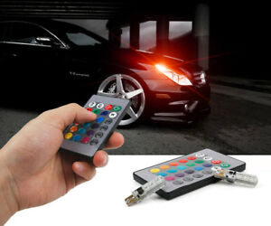 2 Pcs/Set T10 W5W SMD Colorful Auto Car LED Light Bulbs With Remote Control