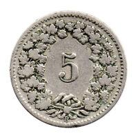 KM# 26 - 5 Rappen - Switzerland 1906 (Fair)