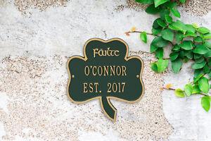 Shamrock Personalized Address Plaque