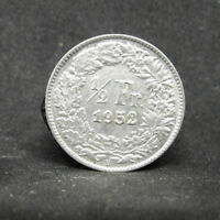 SWITZERLAND 1/2 FRANCS 1952 SUISSE SILVER COIN  #974