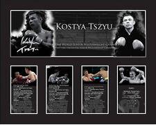 New Kostya Tszyu Signed Limited Edition Memorabilia Framed