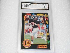 Brett Favre GRADED ROOKIE CARD!! 1991 Wild Card #119 Packers HOFer!! 8%-1