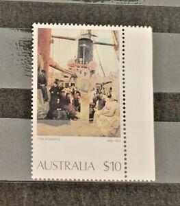 AUSTRALIA 1977 AUSTRALIAN PAINTINGS TOM ROBERTS $10 STAMP COMING SOUTH MUH