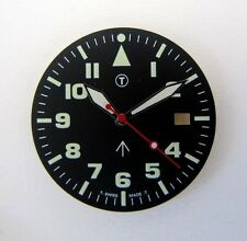MILITARY DIAL with hands, fit for movement ETA 2824.. NOS, swiss made
