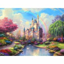 DIY 5D Rainbow Castle Diamond Painting Craft Cross Stitch Embroidery Home Decor