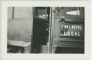 1939 Fort Wayne Indiana Trolley Streetcar Accident with Car Photos Transit IN