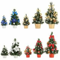 Hot Mini Christmas Tree Party Ornament Decors Desk Table Festival Xmas Grateful