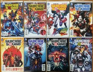 New Suicide Squad #1-8  (Lot of 8, 1st Prints) VF 8.5+,  DC 2014, Harley Quinn