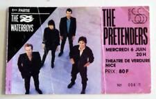 PRETENDERS / WATERBOYS rare billet ticket concert FRANCE Nice 06/06/1984