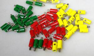 60 Stecker rot/grün/gelb für Märklin H0,1,Z Zubehör Signale etc #G3