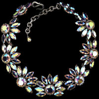 Christian Dior by Henkel and Grosse Aurora Borealis Sunflowers Choker Necklace