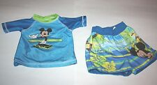Infant Boys 2 Piece Disney Blues & Greens Swimwear  Size 3-6 mnt