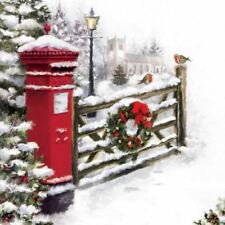 Pillar Box Christmas Greeting Sound Card Plays ' In The Bleak Mid Winter'