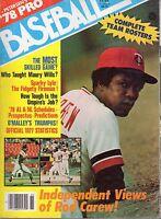 1978 Petersen's Pro Baseball magazine Rod Carew Minnesota Twins Sparky Lyle GOOD