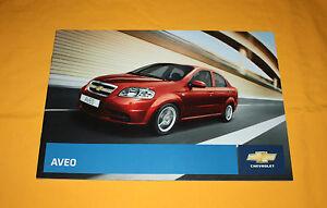 Chevrolet Aveo 2008 Prospekt Brochure Depliant Prospect Catalog Broschyr