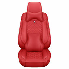 5-Seats Car Seat Cover Full Set Protector Deluxe Pu Leather +Front&Rear Cushion