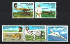 Avions Congo (2) série complète de 5 timbres oblitérés