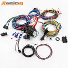 21 Circuit 17 fuses Wiring Harness Hot Rod Universal Wire Kit Extra long