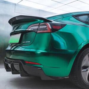 Fit for Tesla Model 3 Carbon Fiber rear trunk boot lip spoiler wing 2016-2021