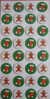 Christmas Sticker Embellishments for cards/ crafts/ scrapbooking/ chipboard G+S