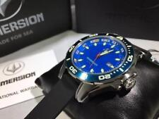 Immersion 7232 Raptor Blue Dial  Black Band Mens Watch