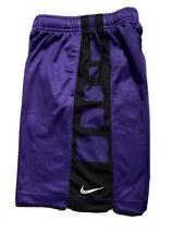 Boy's Nike Basketball Shorts, Purple/black Size Small Dri-fit