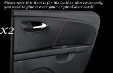 RED Stitch 2x posteriore porta carte in pelle copre gli accoppiamenti SEAT LEON TOLEDO 06-12