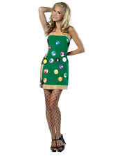Donna Verde pool table FANCY DRESS SPORT BALL Game Player Costume 8-12 NUOVA BN
