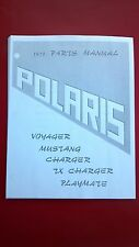 1971 Polaris Snowmobile Parts Manual