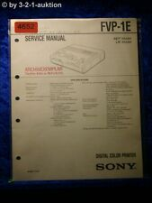 Sony Service Manual FVP 1E Digital Color Printer (#4652)