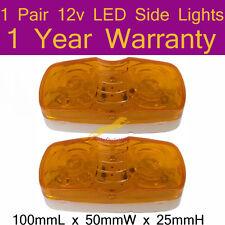 One Pair 12V LED Side Lights 100mmL x 50mmW x 25mmH 1 year Warranty K002