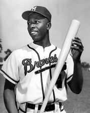 Milwaukee Braves HENRY 'HANK' AARON Glossy 8x10 Photo Print Baseball Poster