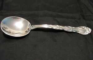 Alvin Sterling Silver SPOON FRENCH SCROLL PATTERN CREAM SOUP Round Bowl Retired