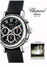 PUBLICITE  1997   CHOPARD  JACKY ICKX  &  K.F SCHEUFELDE  collection montres