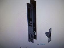 "Croft Flush Sliding Glass Door Handle Black 7/8"" Viking"