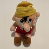 "Vintage 1985 Walt Disney Animated Film Classic Pinocchio Plush Stuffed Doll 8"""