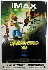 CYBERWORLD NYC Premier (Fine) Orig Movie Poster DS One Sheet Simpsons IMAX 6108b