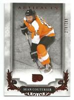 18-19 UD Artifacts Sean Couturier Ruby Parallel #d 278/299 PHILADELPHIA FLYERS