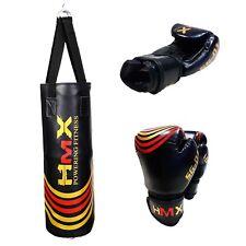 Hmx Kids Punching Training Bag Mma Boxing Martial Arts Kicking Gloves Set Youth