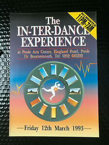 in-ter-dance experience A4 old school rave flyer 1993