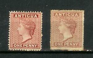 ANTIGUA      VICTORIA   ONE   PENNY    SELECTION