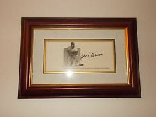 HANK AARON Signed Photo Print Commemorating First and Last Home Run in Milwaukee