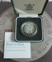 Britannia 2010 £2 Silver Proof 1oz UK Coin From Royal Mint In Box With COA