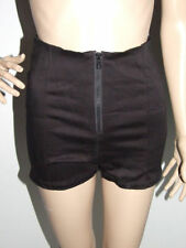 Patternless High Waist Hand-wash Only Shorts for Women