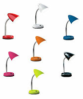 New Flexi Flexible Neck Table Desk Lamp Home Office Bed Side Night Reading Light