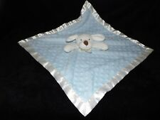 BLANKETS AND BEYOND PUPPY DOG COMFORTER SOFT TOY BLUE WHITE DOTTY BLANKIE DOUDOU